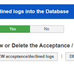 Store Acceptance  Declined logs into the Database